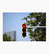 red traffic light intersection Photographic Print