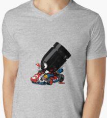 bullet attack Men's V-Neck T-Shirt