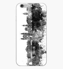 Rennes skyline in black watercolor iPhone Case
