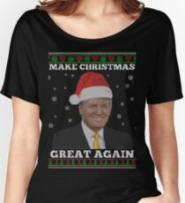 Make Christmas Great Again Donald Trump Shirts Women's Relaxed Fit T-Shirt