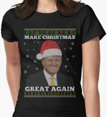 make christmas great again donald trump shirts womens fitted t shirt
