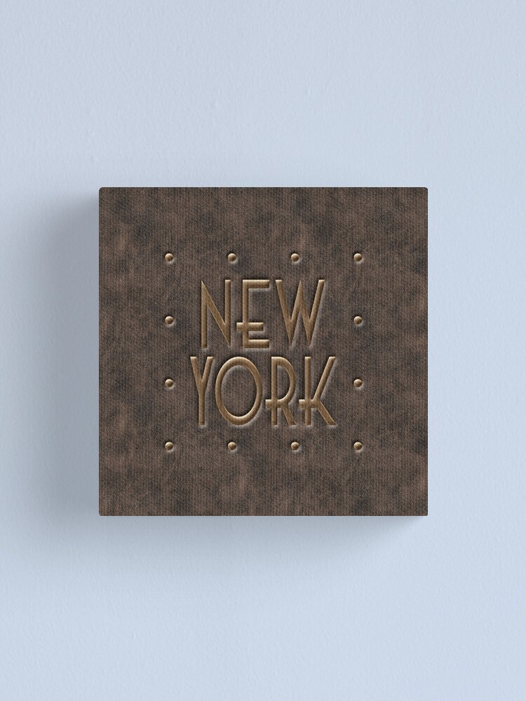Alternate view of New York, leather and metal Canvas Print