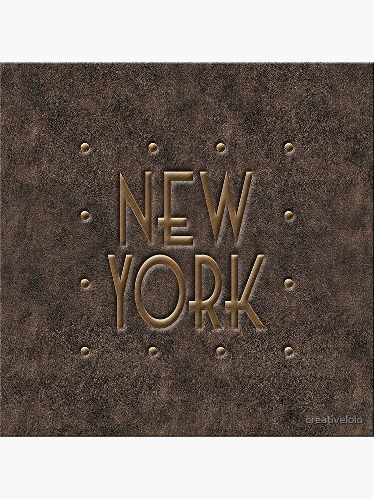 New York, leather and metal by creativelolo