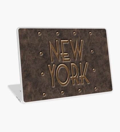 New York, leather and metal Laptop Skin