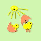 Funny Peep Peep Chicken design by patjila