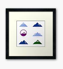 New stylish Hills adventure ICONS Framed Print