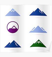 New stylish Hills adventure ICONS Poster