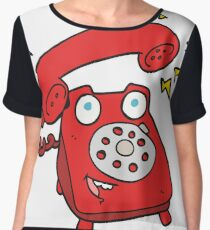 cartoon ringing telephone Chiffon Top