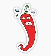 hot chilli pepper cartoon Sticker