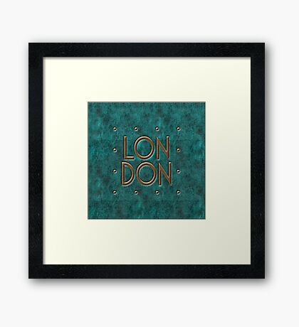 London, leather and metal Framed Print