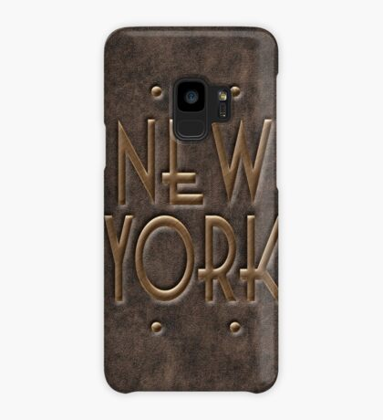 New York, leather and metal Case/Skin for Samsung Galaxy