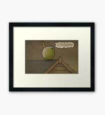 I've completely forgotten why I came up here now Framed Print