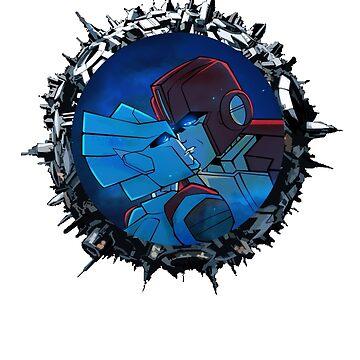 Ironhide and Chromia by DiamondCrusade