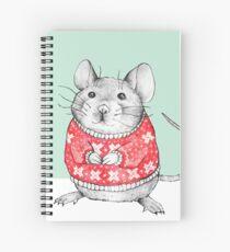 A Festive Mouse Spiral Notebook