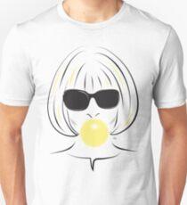 Anna Wintour Bubble Gum Portrait illustration T-Shirt