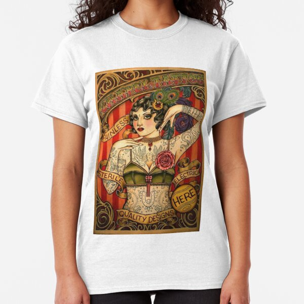 CHAPEL TATTOO; Vintage Body Advertising Art Classic T-Shirt