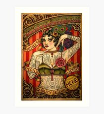 CHAPEL TATTOO; Vintage Body Advertising Art Art Print