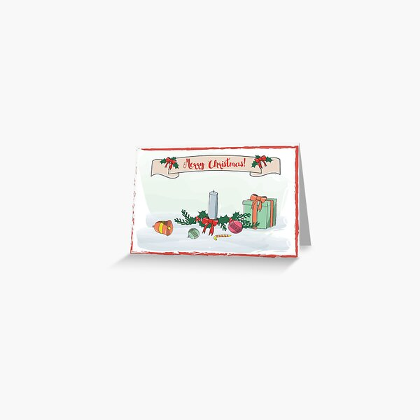 Christmas card with candle Greeting Card