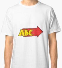 cartoon ABC symbol Classic T-Shirt