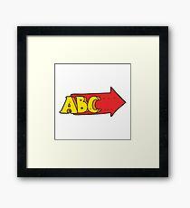 cartoon ABC symbol Framed Print