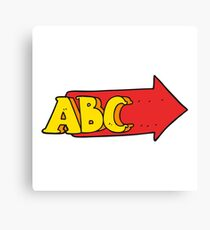 cartoon ABC symbol Canvas Print