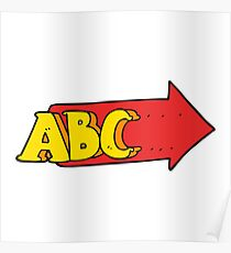 cartoon ABC symbol Poster