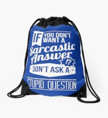 Sarcasm Drawstring Bag