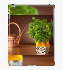 basil plant in decorative flowerpot iPad Case/Skin