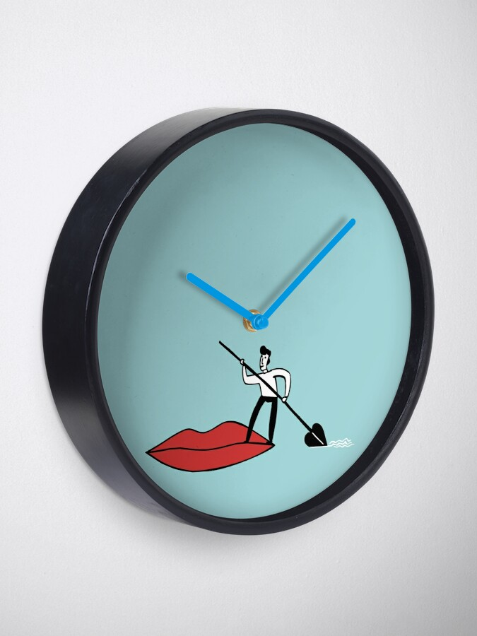 Alternate view of Red lips Clock