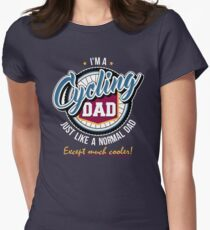 Cycling Dad Womens Fitted T-Shirt