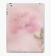 Pink Peony Blossom In Clear Glass Tea Pot  iPad Case/Skin