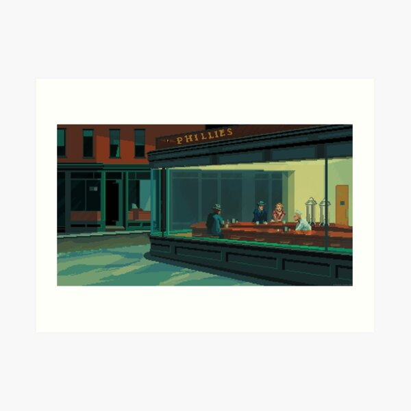 Nighthawks: un tributo a los píxeles Lámina artística