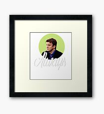 Richard Castle - Always Framed Print