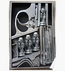 H. R. Giger Museum - Entrance Statue. Gruyeres, Switzerland Poster