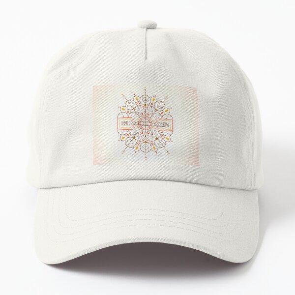 Karmic Light Code - Mother Nature's Call (Golden Light Background) Dad Hat