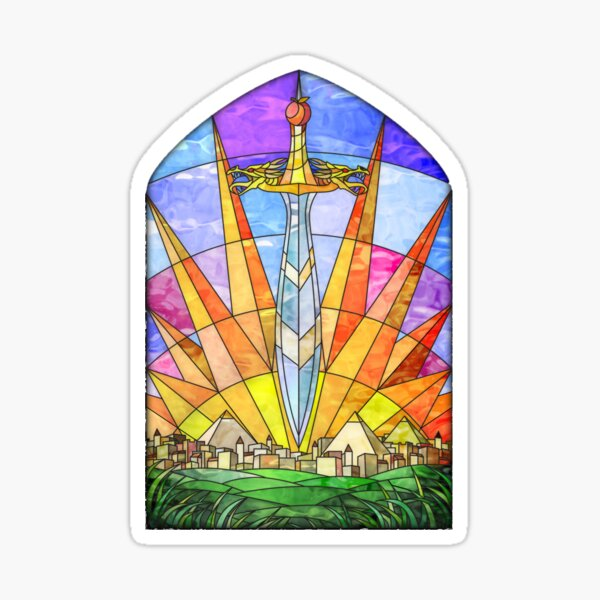 The Stained Glass Unquiet Sword Sticker