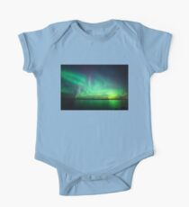 Northern lights over lake One Piece - Short Sleeve