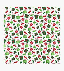 presents, red, green  Photographic Print
