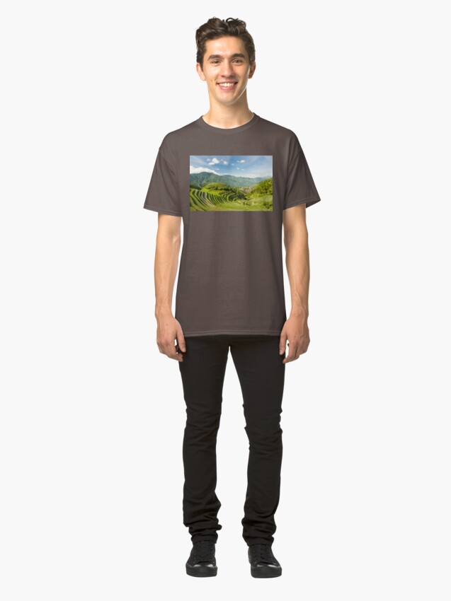 Alternate view of Rice fields in china Classic T-Shirt