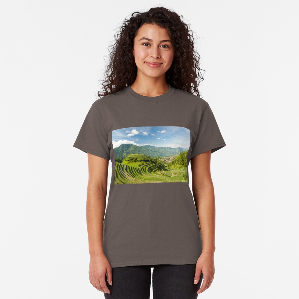 Rice fields in china Classic T-Shirt