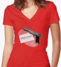 Derrick Storm Women's Fitted V-Neck T-Shirt