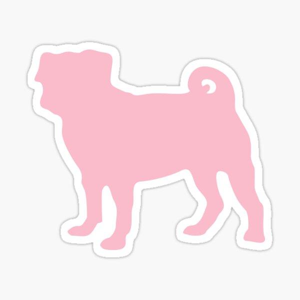 Pastel Pink Pug Sticker