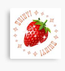 Shiny Strawberry Canvas Print