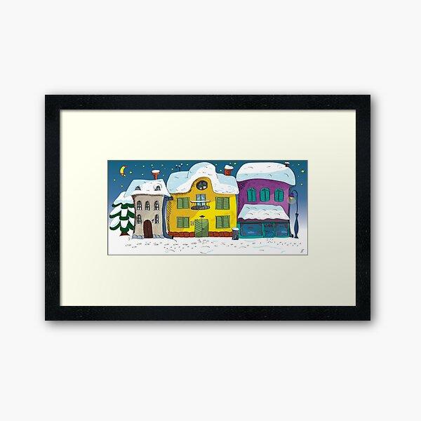 Advent street Framed Art Print