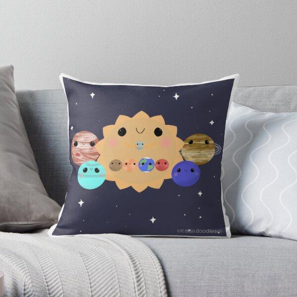 Solar System Family Portrait Throw Pillow