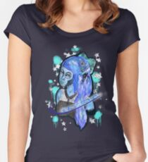 Blue Bow Women's Fitted Scoop T-Shirt