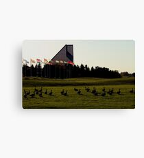 Canada Geese at The Royal Canadian Mint Canvas Print