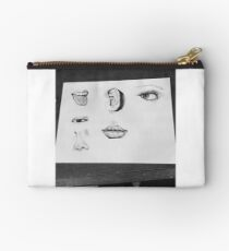 Facial Features Pen and ink art Studio Pouch