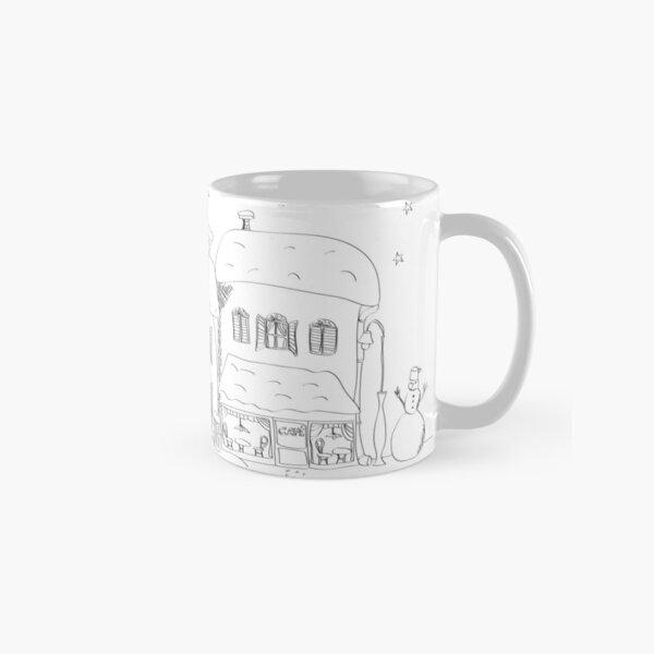 Advent street coloring Classic Mug