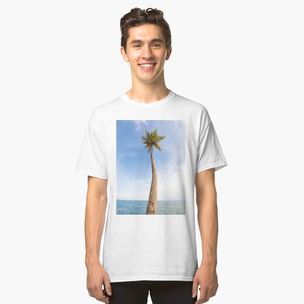Tall palm tree against sky Classic T-Shirt
